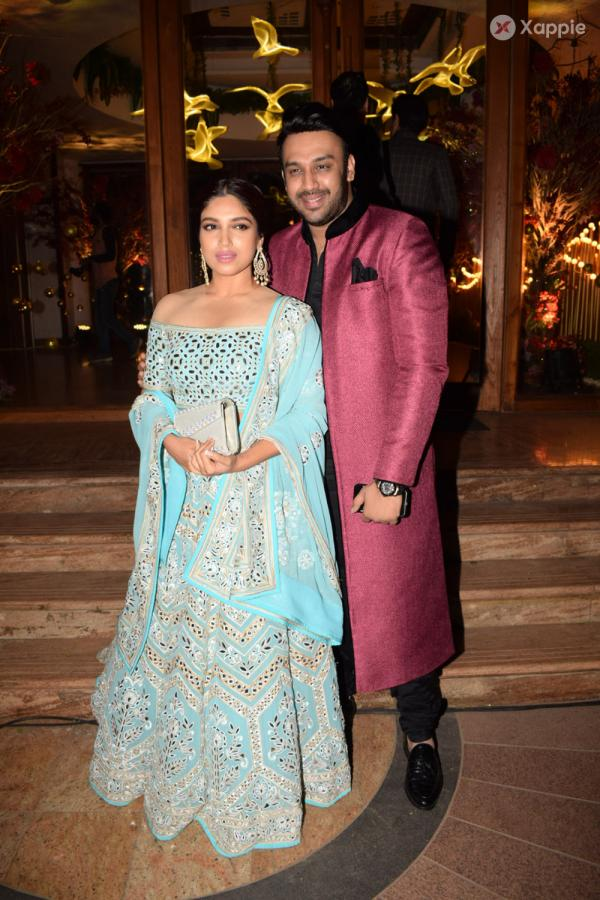 Celebrities attend a wedding Reception at The Club Andheri in Mumbai