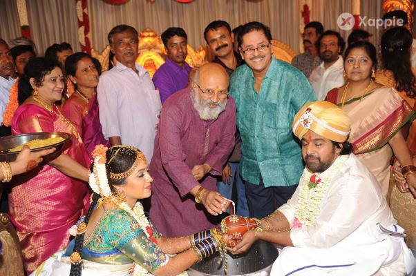 Meghana Raj With Chiranjeevi Sarja Wedding Photos