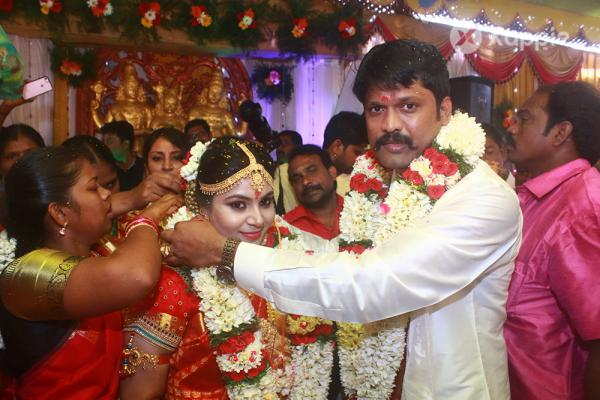 Soundararaja, Tamanna wedding held today at KS Mahal of Madurai Dist