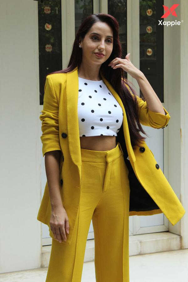 Nora Fatehi snapped at T series for her Saki Saki song launch - photos