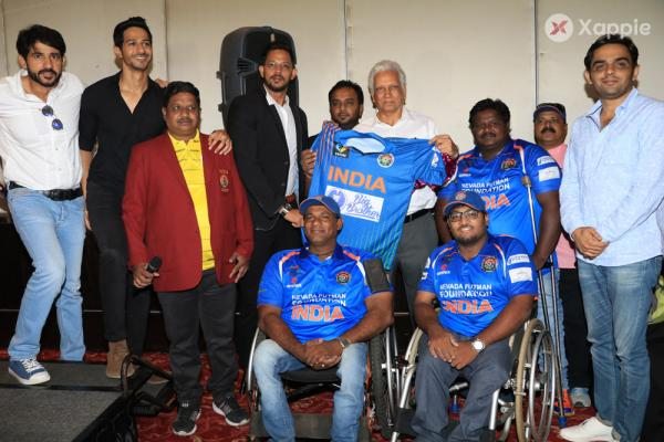 Hiten Tejwani at physically Disabled Indian Cricket Team's jersey Launch