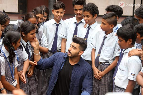 Arjun Kapoor shoots promotional videos for NGO at Air India School
