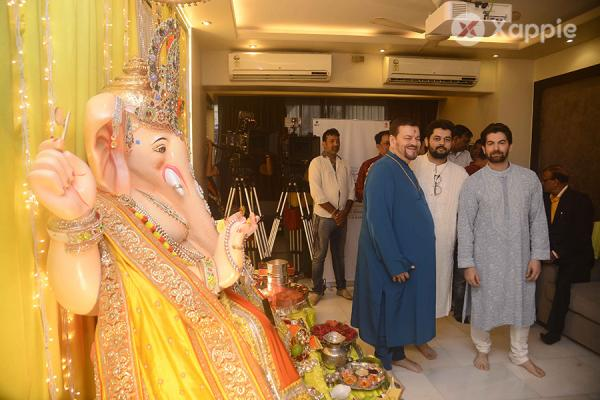 Neil Nitin Mukesh snapped celebrating Ganesh Festival