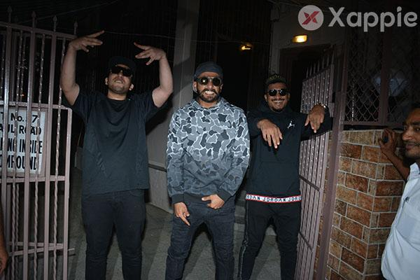 Ranveer Singh, Nezy Theba, Divine, Gully Gang spotted at dubbing studio in Bandra - photos