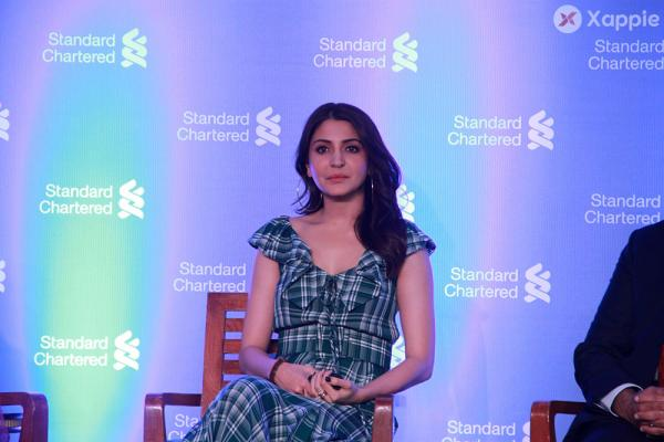 Anushka Sharma at the Standard Chartered press conference at Fourseasons hotel in Mumbai