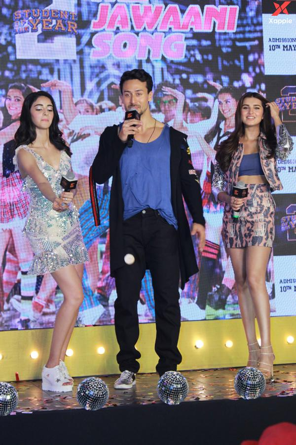 Song Launch Of Film Student Of The Year 2 With Tiger Shroff, Ananya Pandey & Tara Sutaria