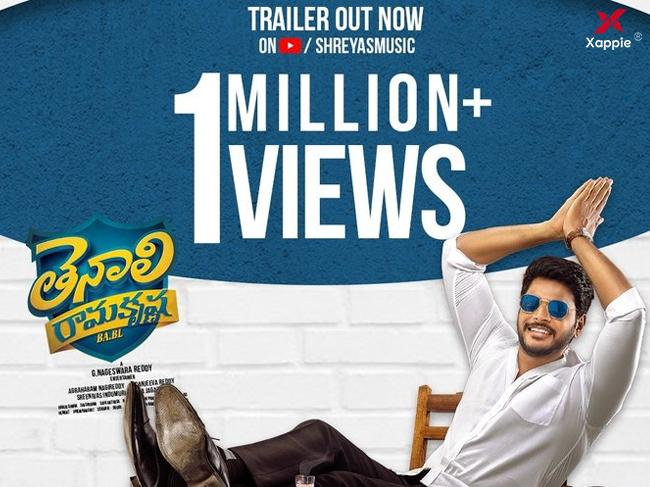 1 Million views for Tenali Ramakrishna Ba Bl trailer