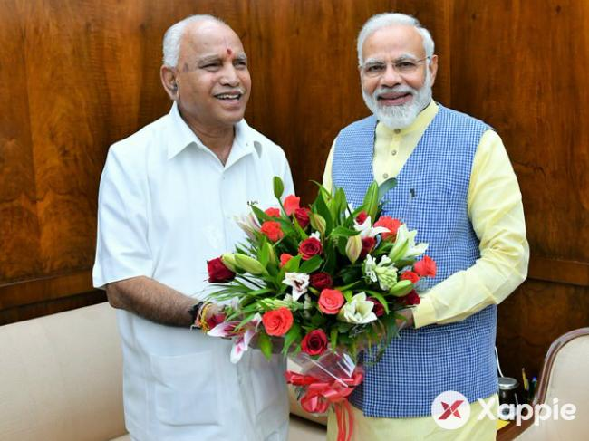 CM BS Yediyurappa visits Modi, urges for state projects