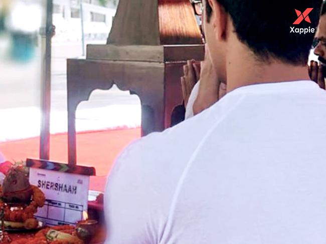 Sidharth Malhotra starts the shoot for Shershaah
