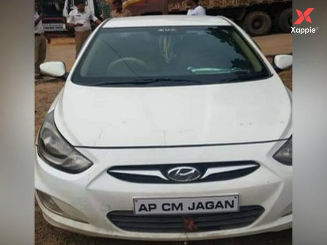 Police files case on 'AP CM Jagan' car