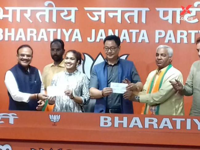 'Dangal' family joins BJP ahead of Haryana elections