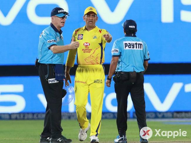 Dhoni lost his cool, was fined 50% match fee !