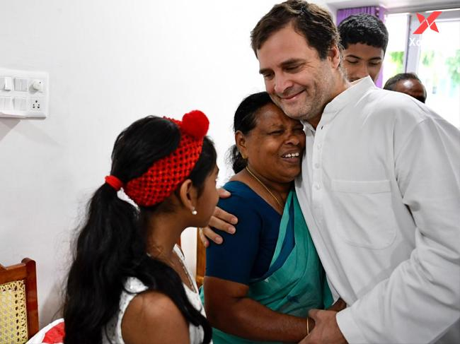 Rahul Gandhi meets retired nurse who was present during his birth at Wayanad