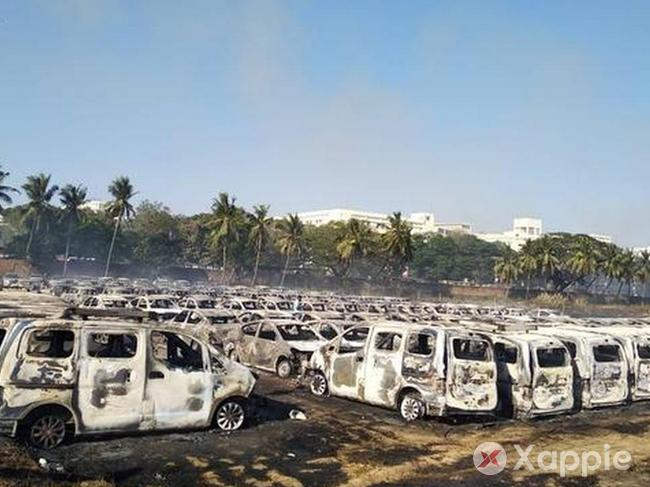 Major Fire break in Chennai, 170 cars gutted