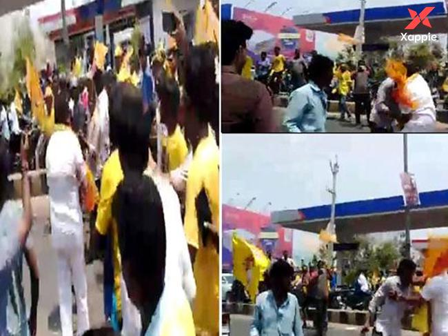 A video of Balayya beating TDP youth going viral
