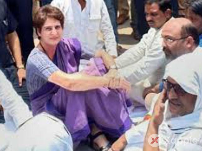 Priyanka Gandhi, spends night in Mirzapur, discussions failed with government