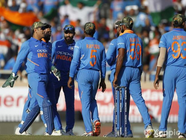 Team India Wore Army Caps as a Tribute to CRPF Jawans