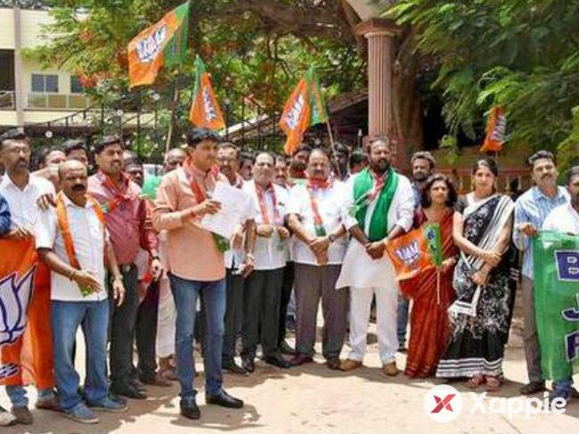 BJP stages protest for CM's resignation