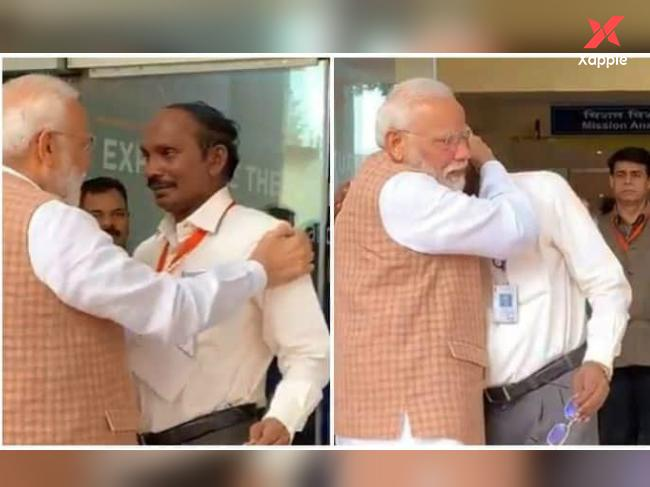 Pic of the Day: Modi hugs ISRO Chief as the latter breaks down
