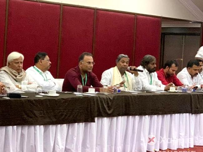Karnataka Congress MLAs hold party meet at Bengaluru resort