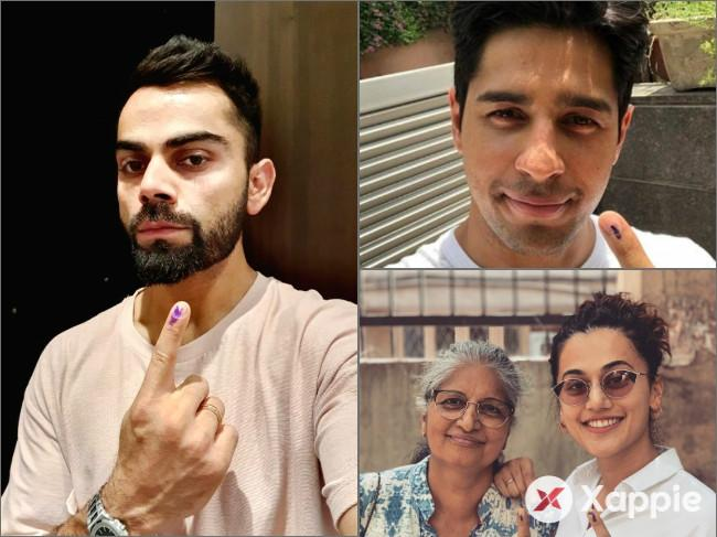 Kohli, Siddharth, Tapsee cast their votes in Sixth Phase of Lok Sabha Elections!