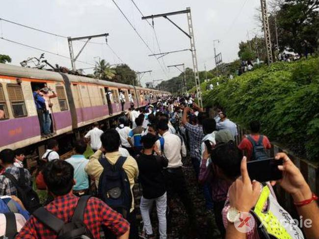 Central Railway services badly affected in Mumbai around 8 a.m.