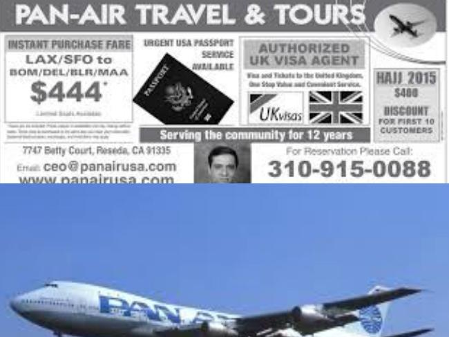 Pan Air Travel And Tours Inc