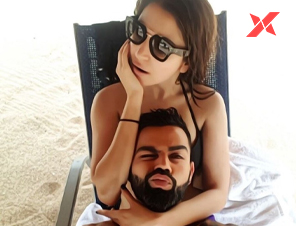 Virat shares his hottest beach selfie with Anushka Sharma