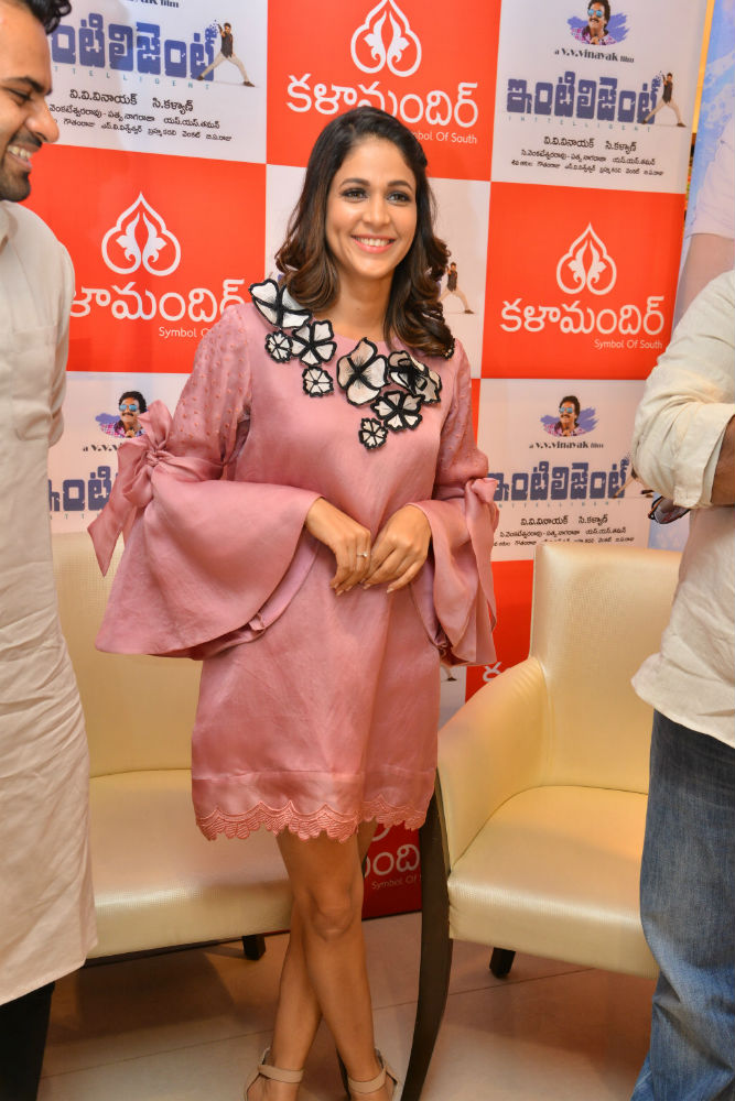 Lavanya Tripati At Inttilgent Movie 4th Song Lunch Event