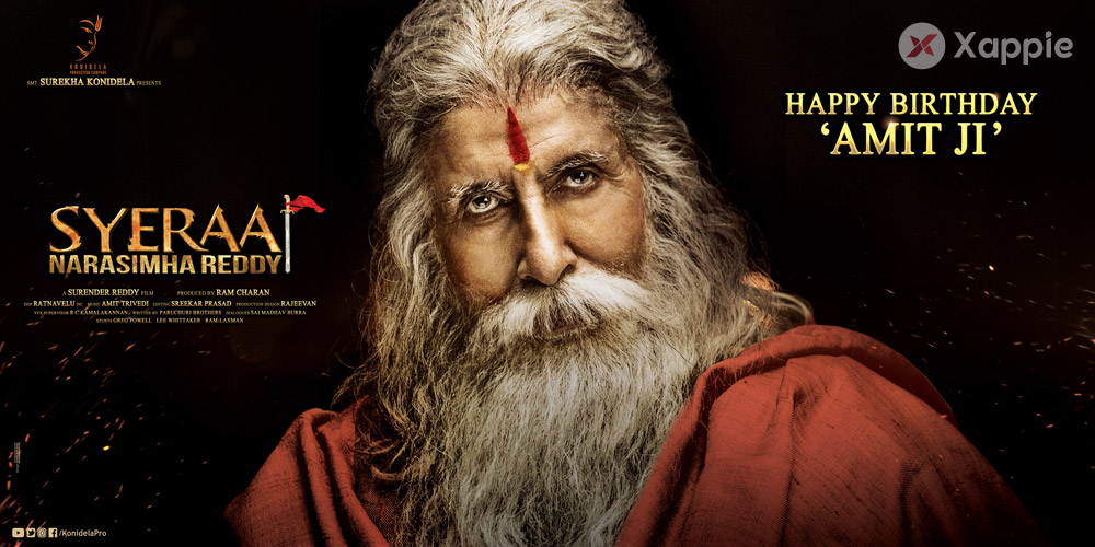 Amitabh Bachchan Birthday Poster from SyeRaa Narasimhareddy