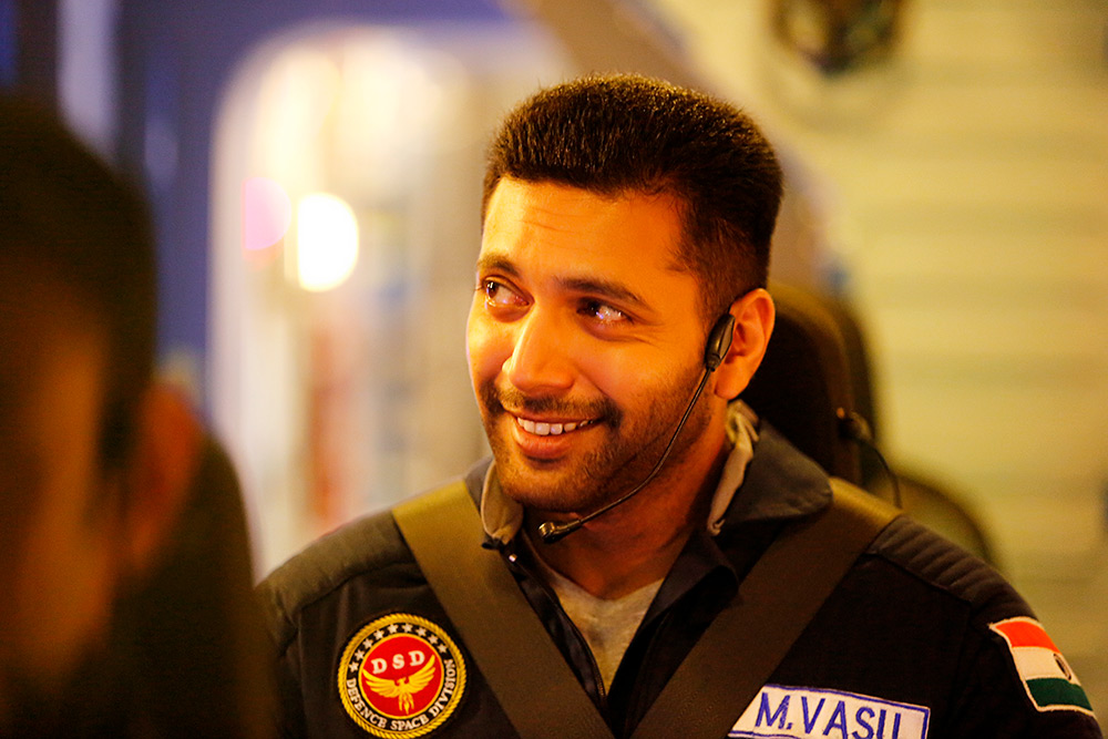 Jayam Ravi  from Tik Tik Tik Movie Stills