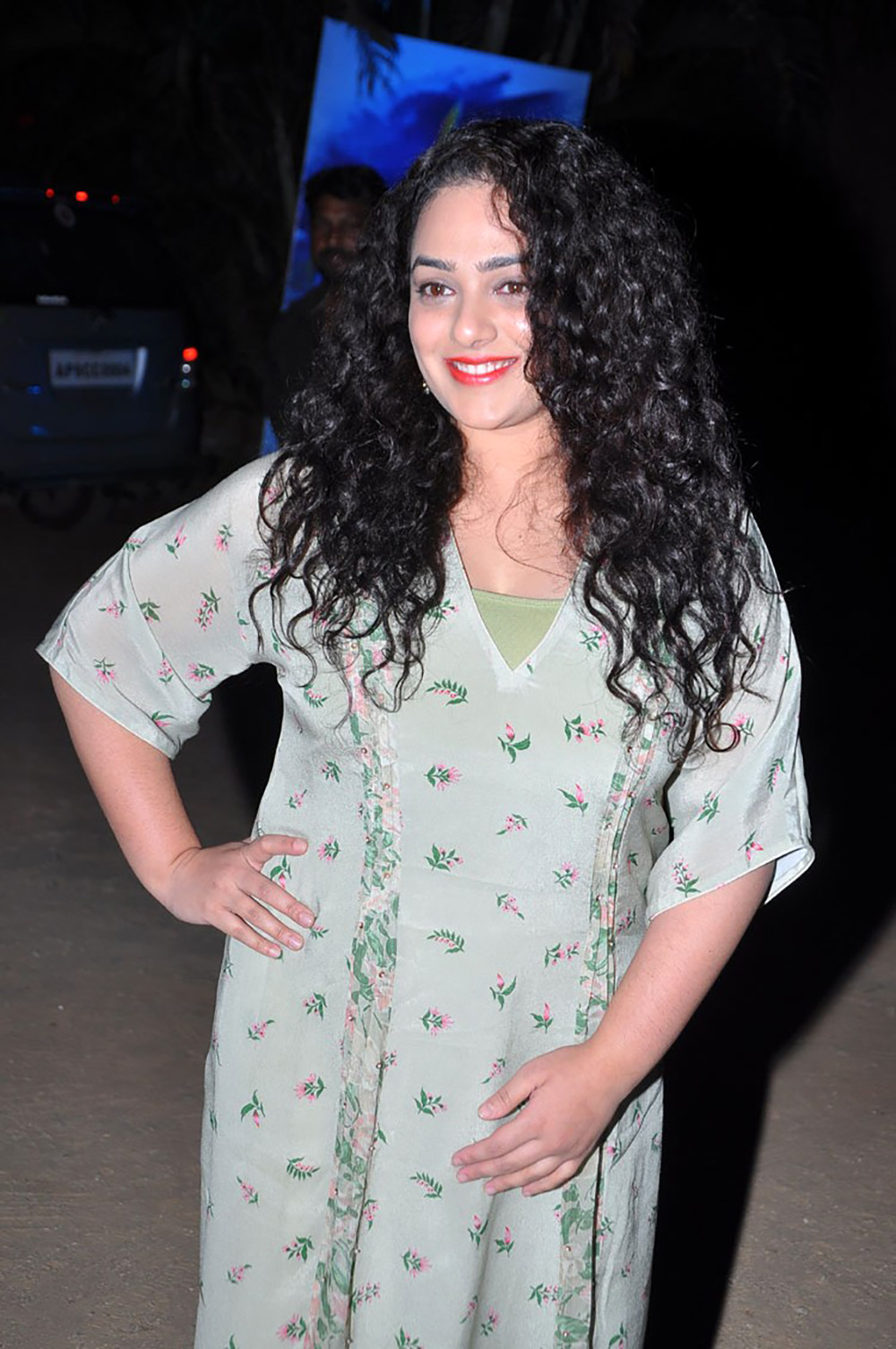 Nitya Menon At Awe Movie  Pre Release Event