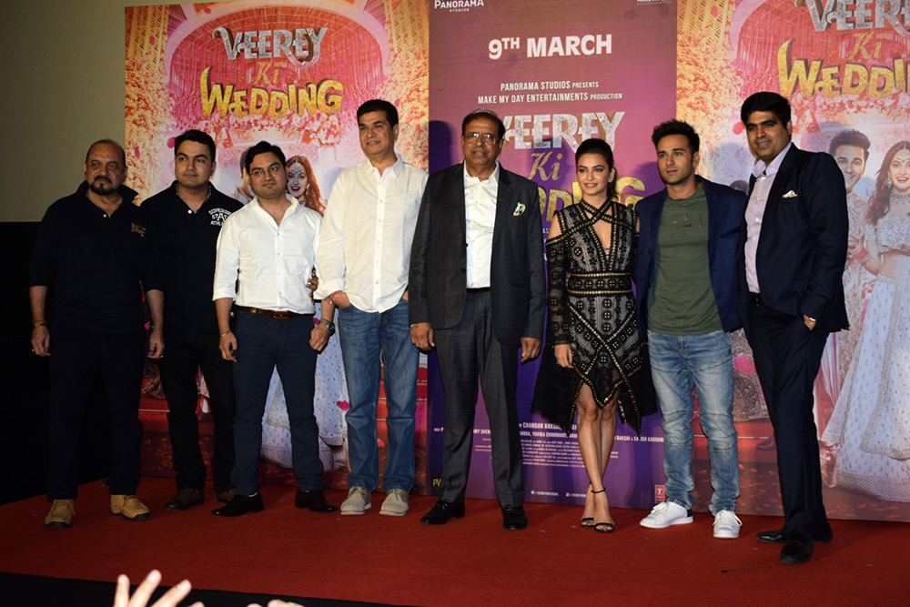 Veerey ki wedding Movie Trailer Launch Stills