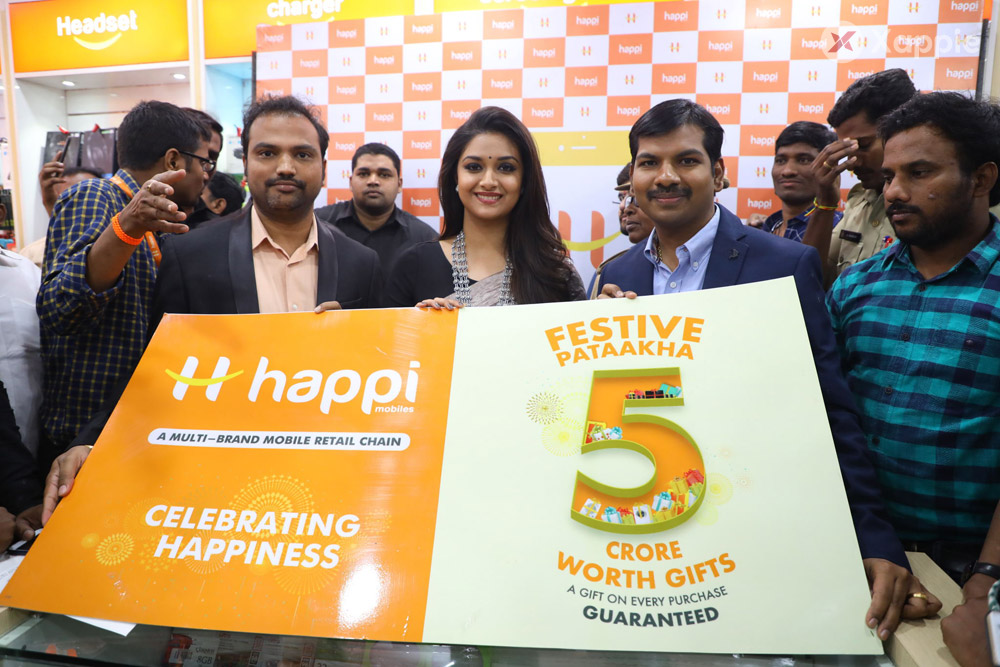 Happi Mobiles Grand Store Opening by Actress Keerthi Suresh at Guntur