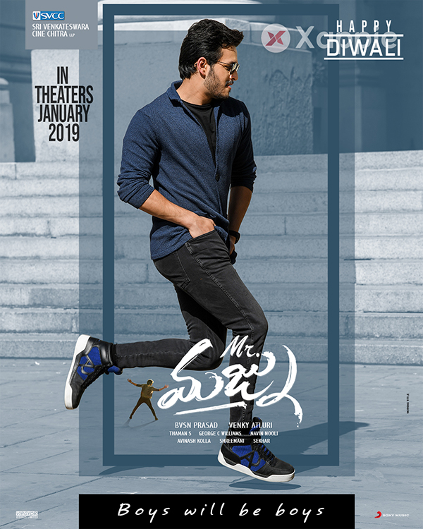Mr Majnu Movie Diwali Wishes Posters