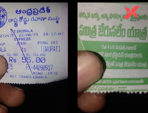 'Anti-Hindu' claims on Jagan increases with Christianity advertisements behind TTD tickets