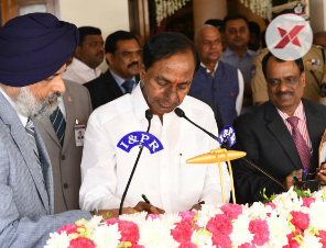 KCR swears in as CM for the second time