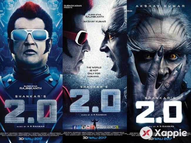 2point0 Telugu states Fist weekend(4days) collections