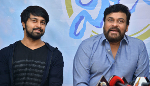 Mega star Chiranjeevi Facilitates Vijetha Movie Team