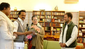 DMK Chief MK Stalin Meets Sonia Gandhi Ahead Of Crucial Opposition Meeting