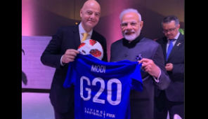 PM Modi expresses his gratitude to FIFA president after receiving football jersey